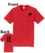O_Monarchs Love Gymnastics_Red T-Shirt