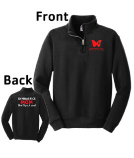 O_Monarchs Mom I Pay_Black Long Sleeve Quarter Zip