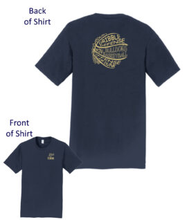 Wordy Bulldogs Basketball_Navy T-Shirt_Bulldog Head