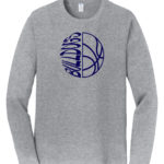 Sideways Bulldogs Basketball_Grey LS