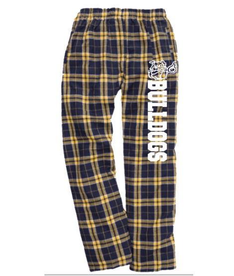 Bulldogs Navy Gold Flannel Pants