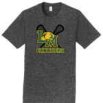 LM Lacrosse Official Logo with Sticks_Dark Grey Tee